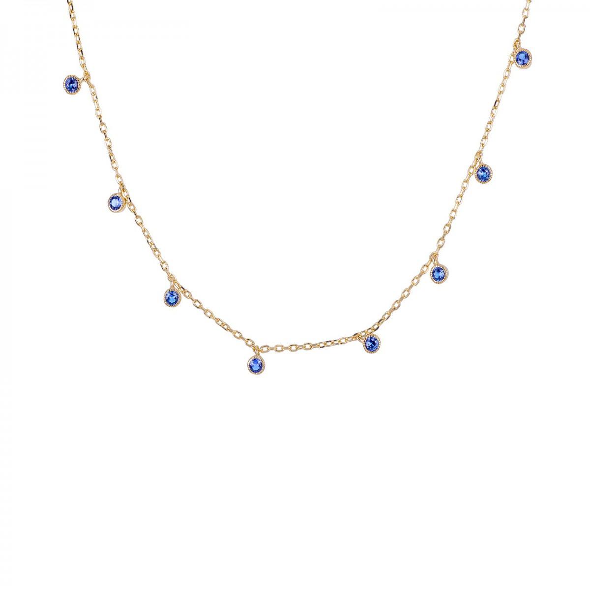Collar Caress Azul Oro