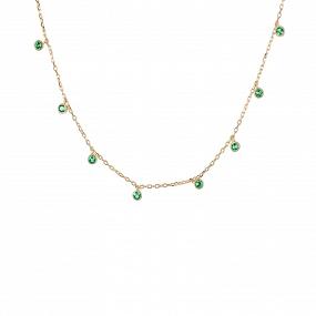 Collar Caress Esmeralda Oro