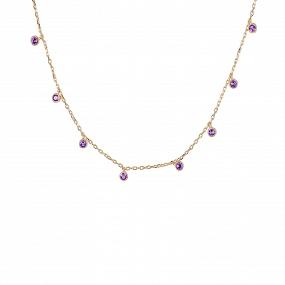Collar Caress Violeta Oro