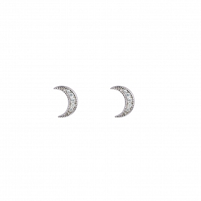 Pendientes Cheery Plata Lateral