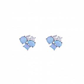 Pendientes Softly Azul Plata